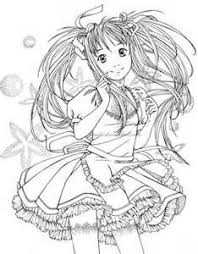 Cute Anime Coloring Pages Bing Images How To Draw Pinterest