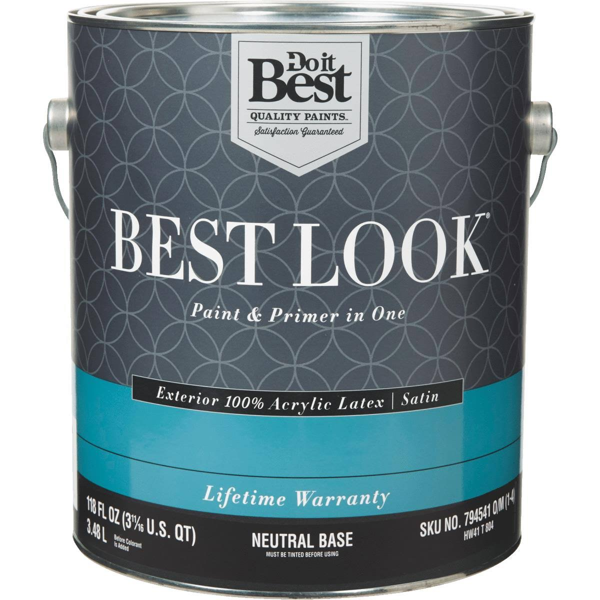 Best Look 100% Acrylic Latex Paint & Primer in One Satin Exterior House Paint