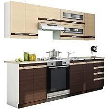 mirjan24 küche puccini 240 cm mit arbeitsplatte küchenblock