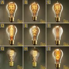 vintage edison bulb a19 110v 220v 25w 40w 60w incandescent bulb