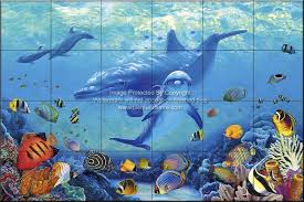 dolphin and whale bathroom tile ideas blessings of the sea crl