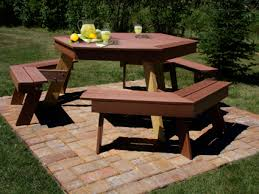 Building Plans For Hexagon Picnic Table by Composite Picnic Table