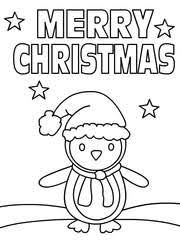 Christmas Coloring Card 1