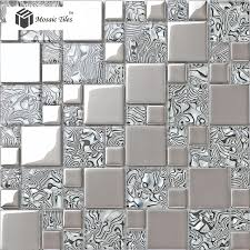 frosted glass mosaic tile glass metal tile modern mosaic glass