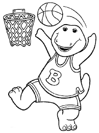 Barney Coloring Book Pages