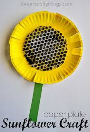 Make A Fun Sunflower Kids Craft With Paper Plate And Bubble Wrap Summer