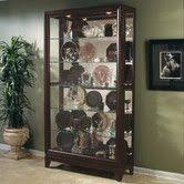 Pulaski Kensington Display Cabinet by Oxford Black Two Way Sliding Door Curio By Pulaski These Crisp