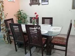 Glass Dining Table With Included 6 Chairs