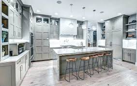 Full Size Of Light Grey Kitchen Cabinets With Butcher Block Countertops Wood Contemporary Gray Floors And