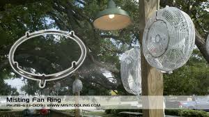 Portable Patio Misting Fans by Misting Fan Ring Turn Your Fan Into An Air Cooling Misting Fan