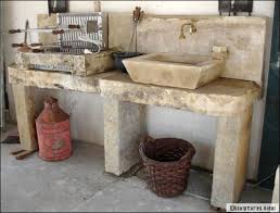 meuble cuisine exterieure bois aménager une cuisine d été conseils et idées travaux com