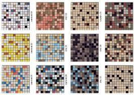 60 colors of mosaic floor tile for a mid century bathroom retro