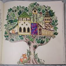 Enchanted Forest An Inky Quest Coloring Book Colored With Colleen 775 Pencil Crayons