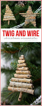 Rustic Twig And Wire Christmas Ornaments