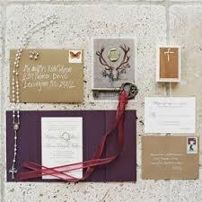Formal Rustic Wedding Invitations With Custom Wax Seal