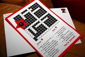 Christmas Tree Type Crossword by Invite And Delight Black White And