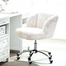 Fuzzy Office Chair Cover Desk Polar Bear Pink Furry