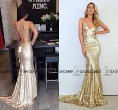 2017 gorgeous mermaid long sparkly rose gold cheap evening party