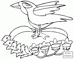 Coloring Pages For Kids Ravens Birds Raven Is Singing