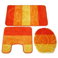 Orange Bath Rug Set Butterfly Bathroom Rug Sets And Bath Mats