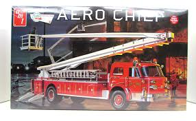 100 Model Fire Truck Kits American LaFrance Aero Chief AMT 980 125 New Kit