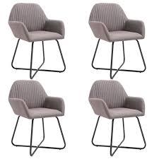vidaxl esszimmerstühle 4 stk taupe stoff
