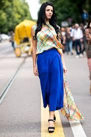 en jupe culotte style 30 façons de porter le bleu