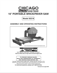 harbor freight tile saw manual paver paver saw harbor freight pavers