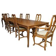 Vintage Baker Furniture Queen Anne Style Dining Set By Chairs