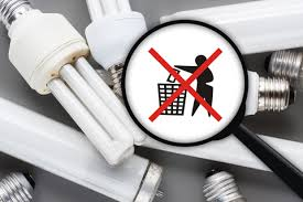 how to dispose of fluorescent light bulbs