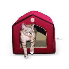 Kh Thermo Kitty Heated Cat Bed by K U0026h Thermo Indoor Pet House Heated U0026 Unheated