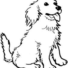 A Happy Dog Coloring Page