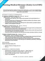 Resume Skills For High School Students Entry Level Nursing Student Sample Highschool