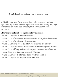 Top 8 Legal Secretary Resume Samples 30 Legal Secretary Rumes Murilloelfruto Best Resume Example Livecareer 910 Sample Rumes For Legal Secretaries Mysafetglovescom Top 8 Secretary Resume Samples Template Curriculum Vitae Cv How To Write A With Examples Assistant Samples Khonaksazan 10 Assistant Payment Format Livecareer Proposal Sample Cover Letter Rsum Application