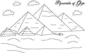 Pyramids Of Giza Coloring Page For Kids
