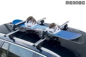 porte skis sur barres de toit menabo iceberg 4 paires de skis ou