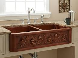 Retrofit Copper Apron Sink by Kitchen 25 Kitchen Sink Farmhouse Farmhouse Duet 33 Farmhouse