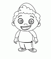 Coloring Page Little Boy Characters 43
