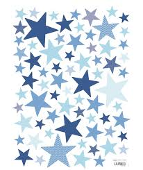 stickers chambre bebe garcon stickers étoiles bleu vifs my superstar mambo