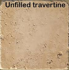 how to fill repair holes in travertine limestone floor tiles