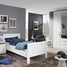 rauch orange m schlafzimmer 3tlg komfortbett nachttisch kombi drehtürenschrank weiß matt liegefläche ca 120x200 cm schrankhöhe wählbar