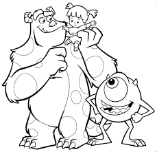 Pixar Monsters Inc Coloring Pages