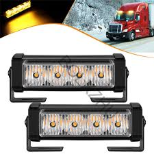 100 Strobe Light For Trucks 2x4 LED Car Truck Front Grille Emergency Flash Lamp Bar