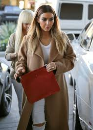 Jeans Kim Kardashian White Ripped Kardashians Beautiful Automn Winter Outfits Spring Camel Coat