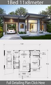 100 One Bedroom Design Home Design Plan 11x8m With Bedroom House