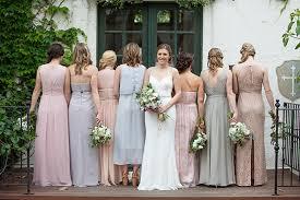 The Villa San Juan Capistrano Wedding Bridal Party With Bridesmaids In Mixed Dresses Rustic
