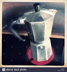 Italian Coffee Pot Heating On Hob