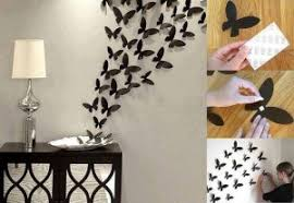 Wall Art Ideas Design 3d Beautiful Craft Flying Paper Cuts Creative Covering Butterflies Fantastic Adhesive Removable