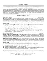 Retail Store Resume Sample Assistant Manager