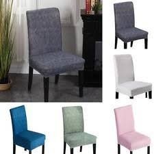 2 4 6pcs Dining Room Chair Covers Wedding Banquet Seat Cover Stretch Spandex UK